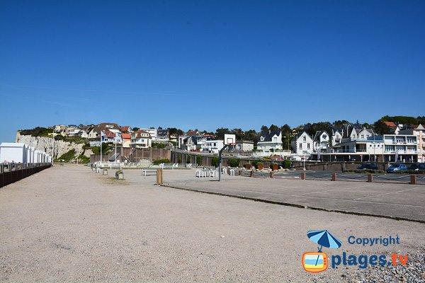 Parking in waterfront of Criel sur Mer
