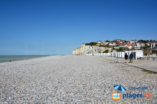 Photo de la plage de Criel sur Mer en Normandie
