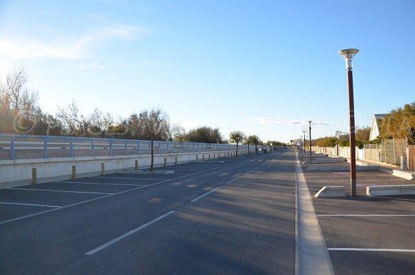 Free car park of the Crin Blanc beach - Saintes Maries de la Mer