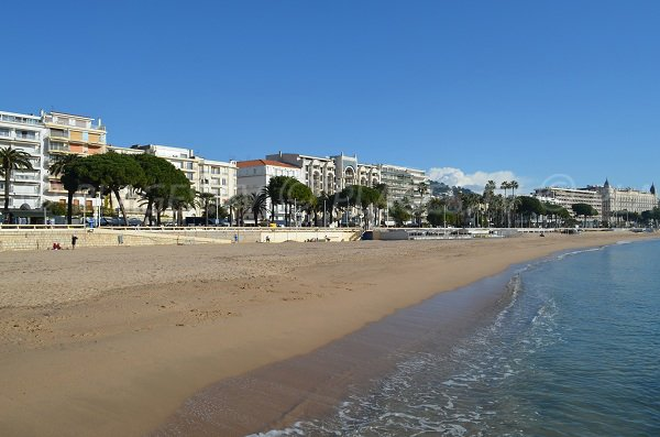 Cannes Croisette beach in winter - France