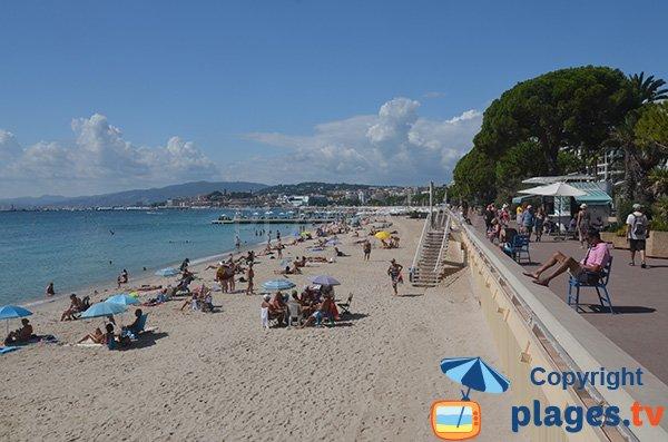 Privatstrand am Martinez in Cannes