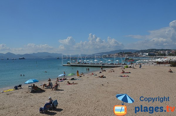 Martinez private beach in Cannes
