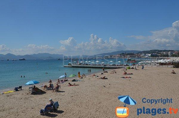Privatstrand der Martinez in Cannes