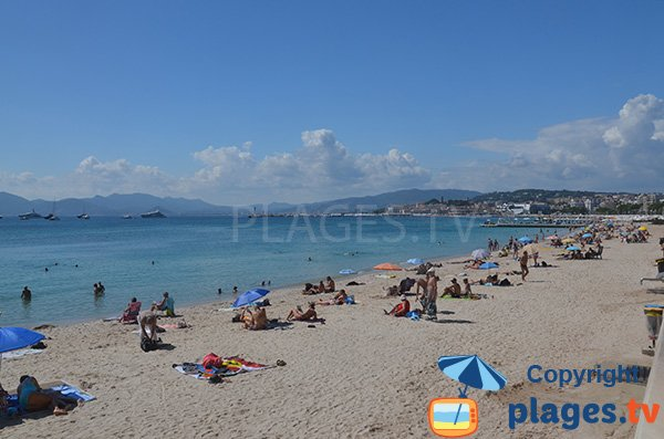 Croisette Beach in Cannes - France - Martinez area
