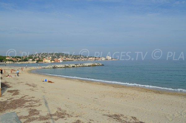Spiaggia di sabbia della Croisette a Sainte Maxime