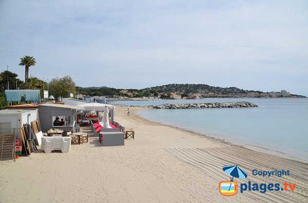 private beach in Sainte-Maxime -  Croisette