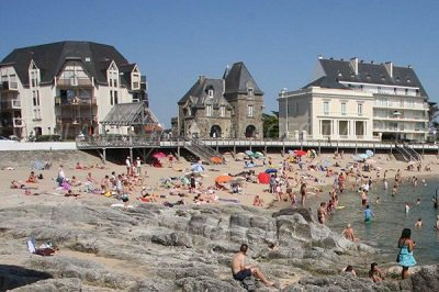 Beach in Le Croisic in France