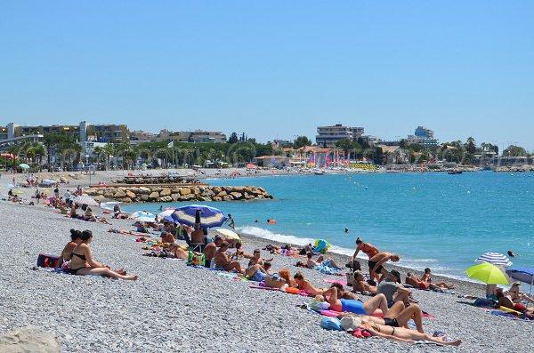 Spiaggia di Cros de Cagnes a Cagnes sur Mer - Francia
