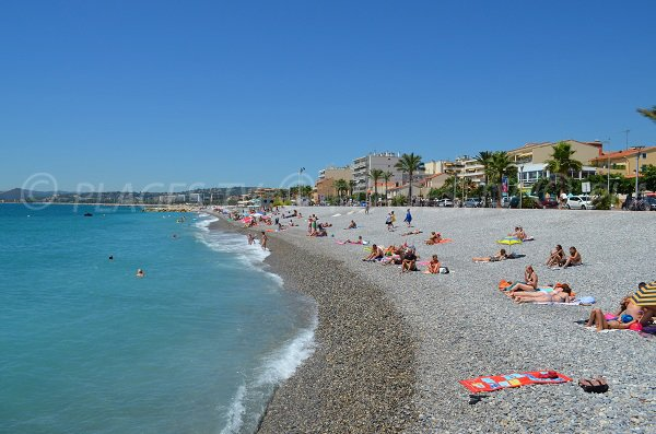Cros de Cagnes beach in France