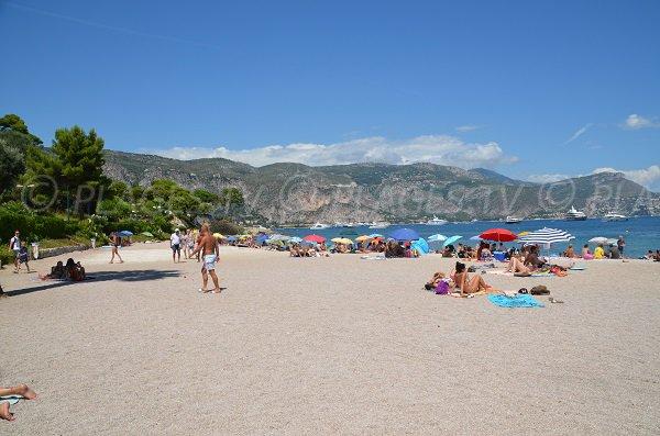 Beach in the centre of St Jean Cap Ferrat in France
