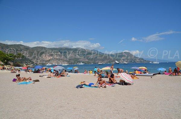 Cros Dei Pin beach in Saint Jean Cap Ferrat in France