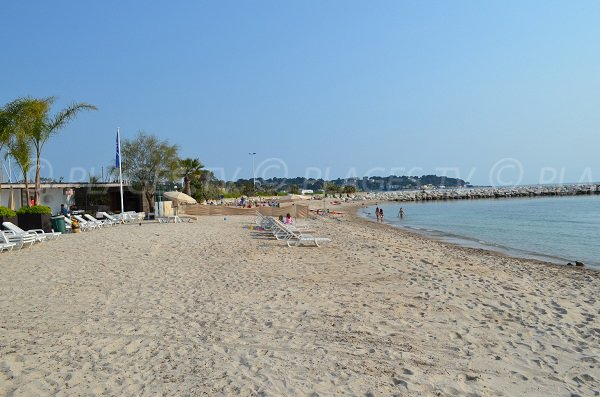 Private beach in Juan les Pins near to Cap d'Antibes