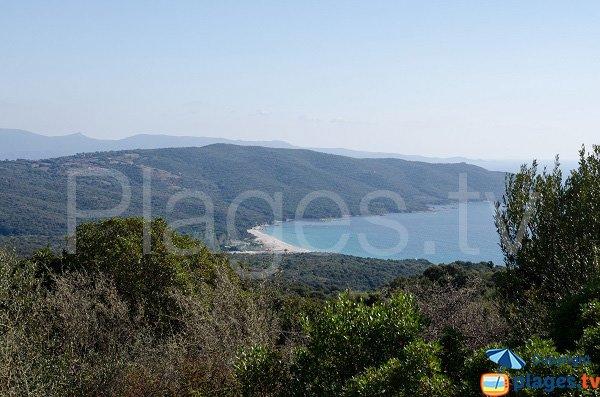 Baie de Cupabia en Corse depuis Coti Chiavari
