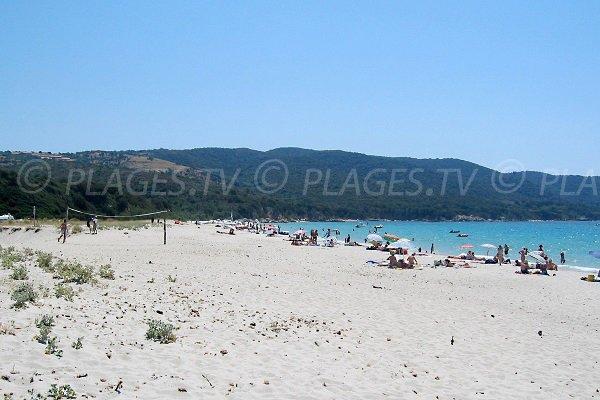 Partie sud de la plage de Cupabia - Corse