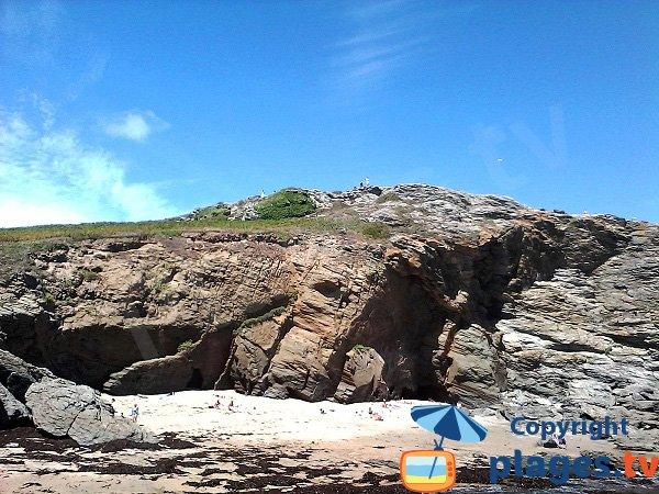 Cliffs and cove on the Groix island - Les Curés