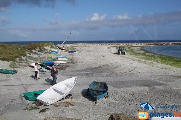 Photo de la plage de Curnic à Guisseny - Bretagne