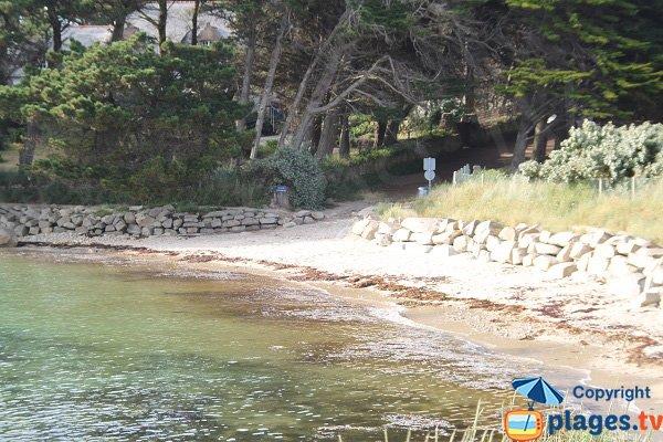 Accès à la plage aux Dames - Ile Grande