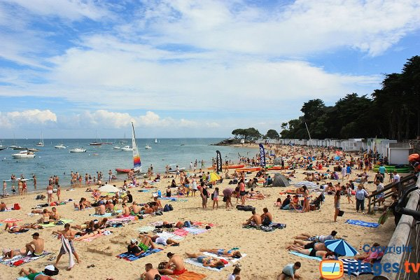Dames beach on the Noirmoutier island in France