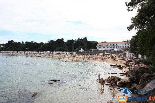 Vista generale della spiaggia di Dames a Noirmoutier