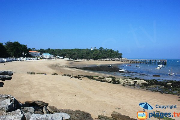 Beach of Dames at low tide in Noirmoutier in France