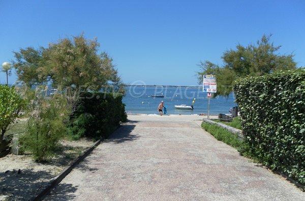 Access to the Daniel Meller beach in Pyla sur Mer