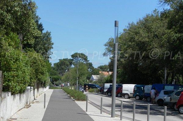 Parking of Daniel Meller in Pyla in France