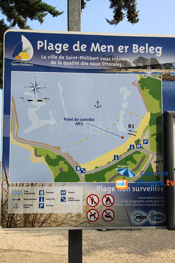Descriptif de la plage de Men er Beleg