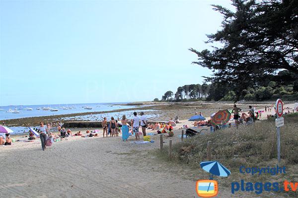 Vue de droite de la plage