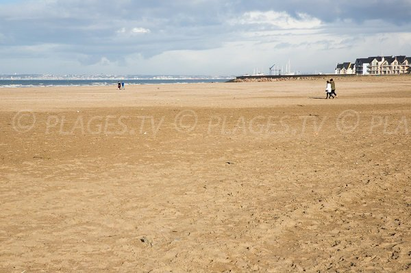 Beach near the harbor of Deauville