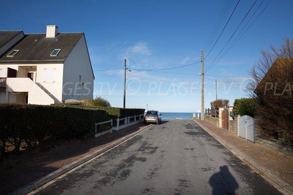 Rue d'accès à la plage du Débarquement (Bernières sur Mer)