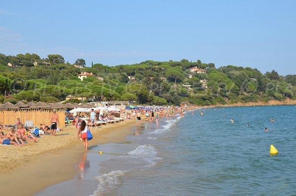 Private and public beaches in the Croix Valmer - Debarquement