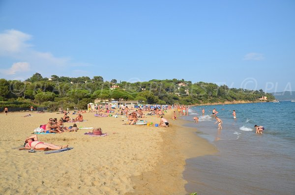 Photo of the Débarquement beach in La Croix Valmer in France