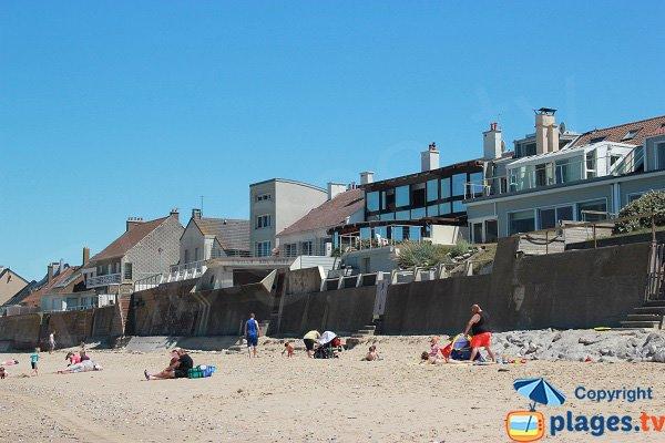 Maisons le long de la plage de Sangatte - La Descenderie