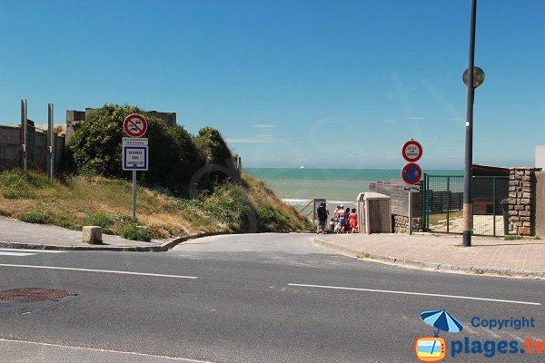 Accès à la plage de la Descenderie - Sangatte