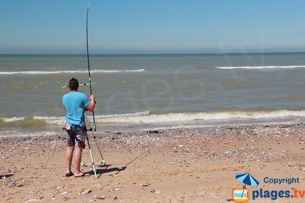 Surf Casting sur la plage de la Descenderie - Sangatte