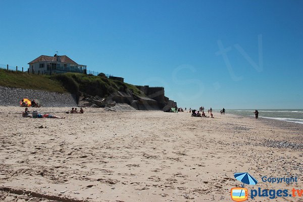 Photo de la plage descenderie à Sangatte