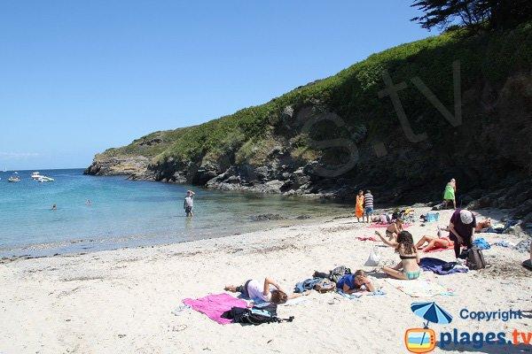 Protected beach in Belle Ile - Deuborh