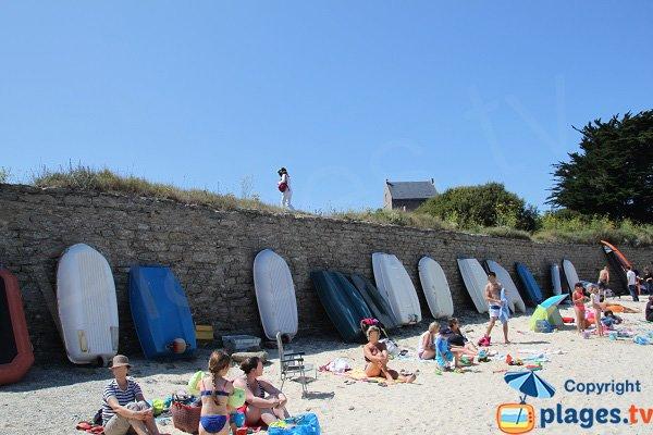 Fortifications de la plage de Deuborh à Sauzon