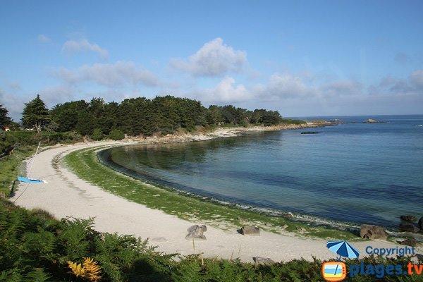 Photo de la plage du Dibenou à Guissény