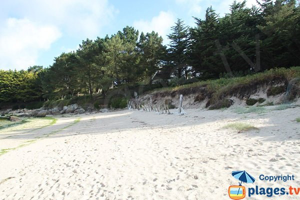 érosion sur la plage de Dibennou Ouest - Guisseny