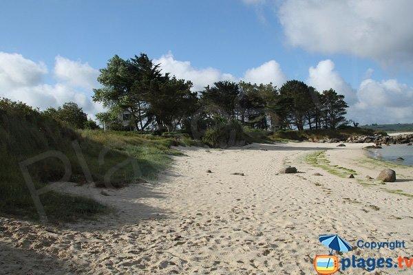 Photo de la plage sur la presqu'ile de Dibennou - Guisseny