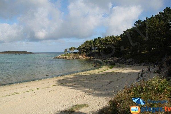 Ombre sur la plage de Dibennou Ouest à Guisseny