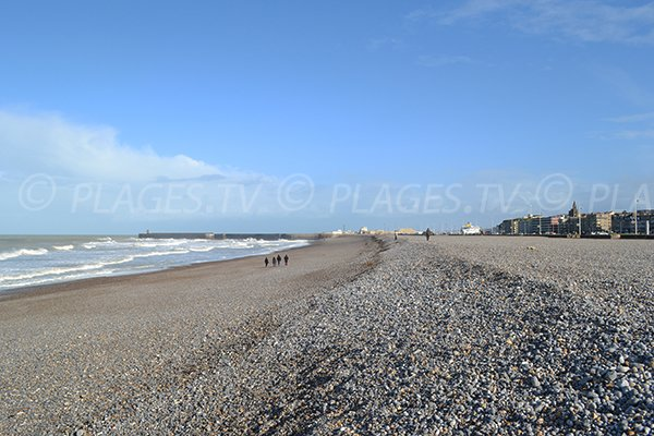 Photo of the Dieppe beach in France