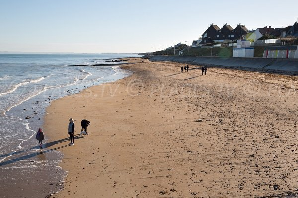 Photo of the beach of the East Dike of Luc sur Mer