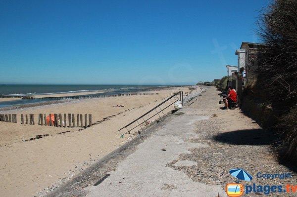 Digue beach in Sangatte in France