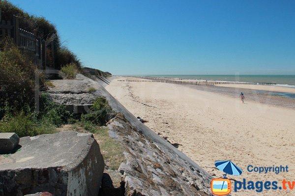 Central beach of Sangatte
