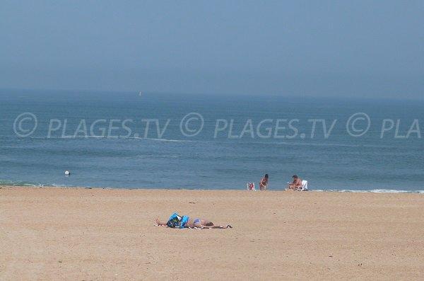 Beach in Landes in France - Tarnos