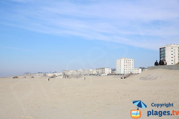 Photo of the Berck beach in France