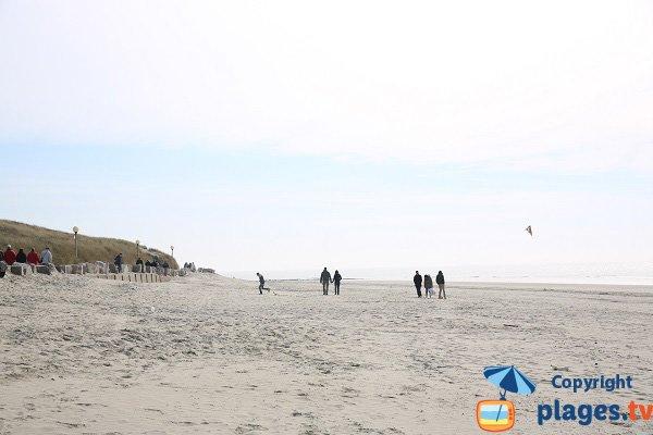 Plage sud du Dobin à Berck