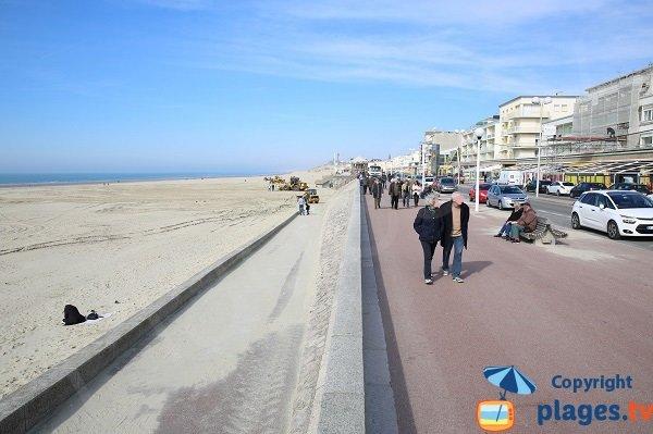 Promenade le long de la plage de Berck